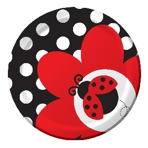 Ladybird Fancy Baby Shower Plate
