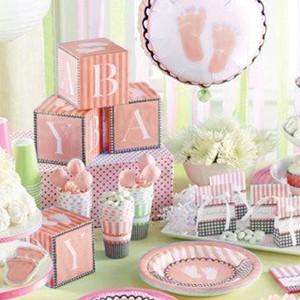 Sweet Baby Feet Pink Tableware complete set