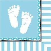 Sweet Baby Feet Blue - Baby Shower Napkins
