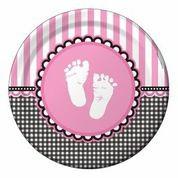 Sweet Baby Feet Pink - Babyshower Dinner Plates