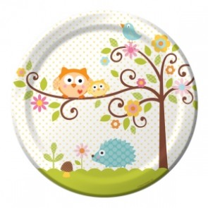 Happi Tree Baby Shower Plate