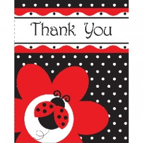 Ladybird Fancy Baby Shower Thank You.