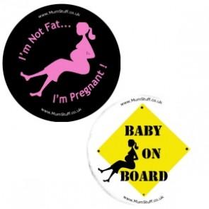 Both Pregnancy Badges