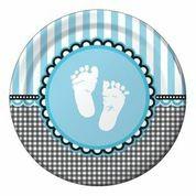 Sweet Baby Feet Blue - Babyshower Dinner Plates