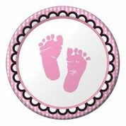 Sweet Baby Feet Pink - Babyshower Lunch Plates