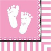 Sweet Baby Feet Pink - Baby Shower Napkins