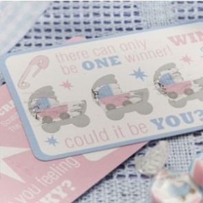 TF Baby shower scatch Card Game