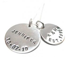 Love Circles Personalised Circle Tags Necklace
