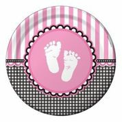 Sweet Baby Feet Pink - Babyshower Dinner Plates