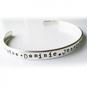 Family Forever Personalised Bangle
