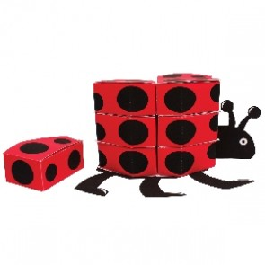 Ladybird Fancy Baby Shower Centrepiece Favour Boxes.