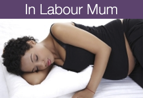 In labour mum