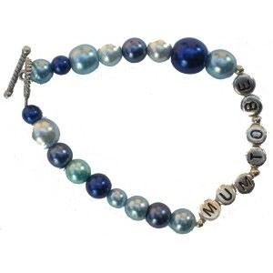 Jazzy Beads Mum to Be Bracelet Royal Blue Mix