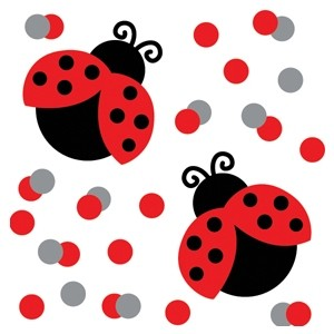 Ladybird Fancy Baby Shower Confetti