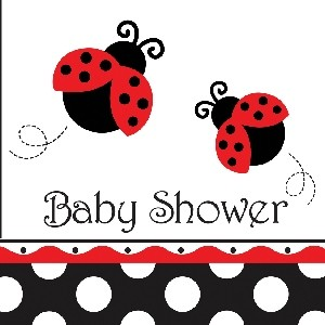 Ladybird Fancy Baby Shower Napkin