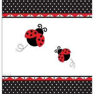 Ladybird Fancy Baby Shower Tablecover.