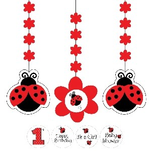 Ladybird Fancy Hanging Banner