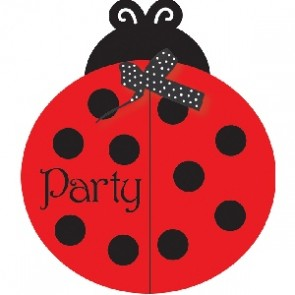 Ladybird Fancy Baby Shower Invite