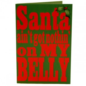 Santa Belly Christmas Card