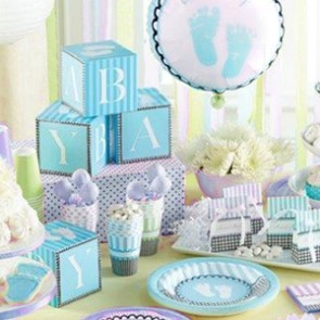 Sweet Baby Feet Blue Tableware complete set