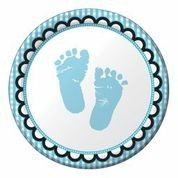 Sweet Baby Feet Blue - Babyshower Lunch Plates