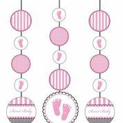 Sweet Baby Feet Pink - Baby Shower Hanging Cut Outs