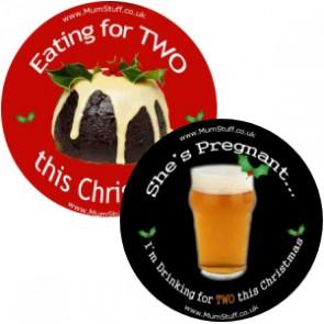 Two Mumstuff Christmas Badges