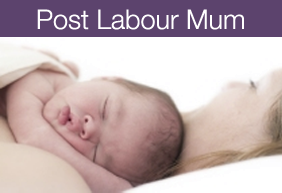 Post labour mum